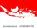 indonesia country map with red... | Shutterstock .eps vector #1930484735