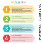 modern infographic with steps... | Shutterstock .eps vector #1930511702