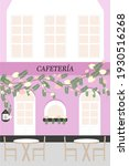 pink cafeteria with weaving... | Shutterstock .eps vector #1930516268