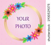 photo frame with golden rings...   Shutterstock .eps vector #1930529375