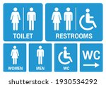 toilet signs. set toilet signs... | Shutterstock .eps vector #1930534292