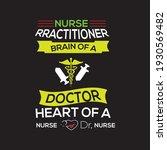 nurse rractitioner brain of a... | Shutterstock .eps vector #1930569482