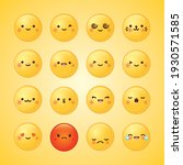 emoji set with different... | Shutterstock .eps vector #1930571585