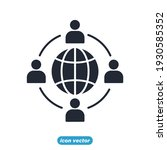 outsource icon. outsource... | Shutterstock .eps vector #1930585352