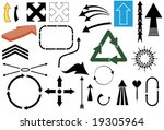 vector illustration of various... | Shutterstock .eps vector #19305964