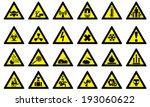 set of triangular warning... | Shutterstock .eps vector #193060622
