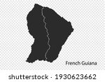 french guiana map vector  black ...   Shutterstock .eps vector #1930623662