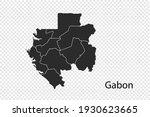 gabon map vector  black color....   Shutterstock .eps vector #1930623665
