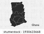 ghana map vector  black color....   Shutterstock .eps vector #1930623668