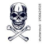 skull with bones style icon | Shutterstock .eps vector #1930624535