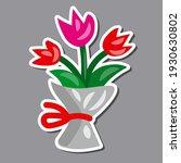 illustration of the tulip... | Shutterstock .eps vector #1930630802