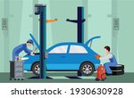car service and repair building ... | Shutterstock .eps vector #1930630928