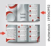 brochure template with abstract ... | Shutterstock .eps vector #193063952
