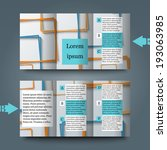 brochure template with abstract ... | Shutterstock .eps vector #193063985