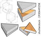 triangular box and die cut... | Shutterstock .eps vector #1930649258