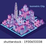 isometric city vector.smart... | Shutterstock .eps vector #1930653338
