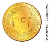 detailed gold coin nft non... | Shutterstock .eps vector #1930662968