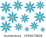 a group of blue roses with a... | Shutterstock .eps vector #1930673828