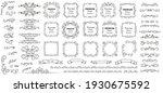 calligraphic design elements .... | Shutterstock .eps vector #1930675592