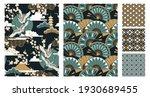 set of seamless japanese style...   Shutterstock .eps vector #1930689455