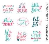sister calligraphic lettering... | Shutterstock .eps vector #1930704578