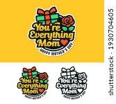 mother day badge label sticker... | Shutterstock .eps vector #1930704605
