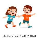 cute little kid boy and girl... | Shutterstock .eps vector #1930711898