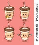 set of the cute coffee cup... | Shutterstock .eps vector #1930720538