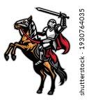 knight mascot ride the horse | Shutterstock .eps vector #1930764035