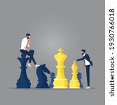 businessman playing chess and... | Shutterstock .eps vector #1930766018