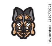 colored mask in maori or samoan ... | Shutterstock .eps vector #1930770728