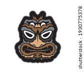 maori pattern face. samoan... | Shutterstock .eps vector #1930775378