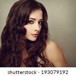 fashion luxury female model... | Shutterstock . vector #193079192