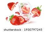 strawberry fresh fruit set...   Shutterstock .eps vector #1930797245