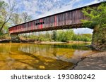 Cox Ford Covered Bridge  Built...