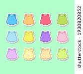 te gummy frog jelly stickers set   Shutterstock .eps vector #1930820852