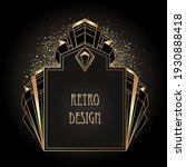 art deco vintage gold patterns...   Shutterstock .eps vector #1930888418