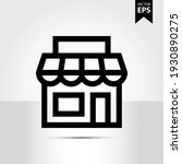 store icon in trendy style...