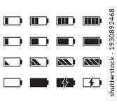battery icon set on white...   Shutterstock .eps vector #1930892468