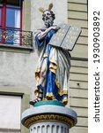 Colorful Statue Of Moses On The ...