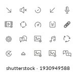 big set of sign line icons....