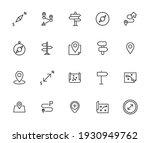 map line icons set. stroke... | Shutterstock .eps vector #1930949762