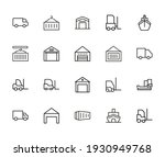 big set of logistic line icons. ... | Shutterstock .eps vector #1930949768