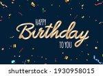 happy birthday dark background...   Shutterstock .eps vector #1930958015
