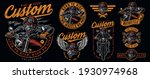vintage motorcycle colorful... | Shutterstock .eps vector #1930974968