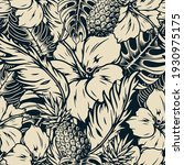 tropical seamless pattern with... | Shutterstock .eps vector #1930975175