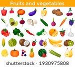 set of fresh healthy vegetables ... | Shutterstock .eps vector #1930975808