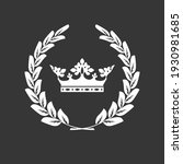 crown and laurel wreath  family ...   Shutterstock .eps vector #1930981685
