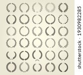 laurel wreaths icon collection... | Shutterstock .eps vector #1930982285