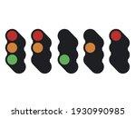 street traffic control lights.... | Shutterstock .eps vector #1930990985